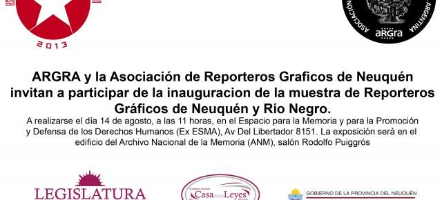 Reporteros gráficos de Neuquén muestran la Patagonia en la Esma