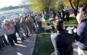 Neuquen Acto 7 de junio día del periodista Plazoleta Periodistas Neuquinos Sindicato de Prensa de Neuquén 011