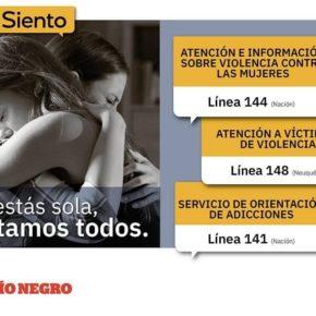 """Intervención SPN contra la violencia sexista en el diario """"Río Negro"""""""