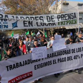 Histórica marcha en Neuquén de los trabajadores de prensa